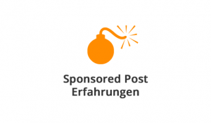 Sponsored Post Erfahrungen
